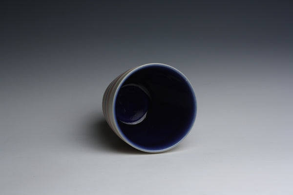 Carved Blue and Purple Cup