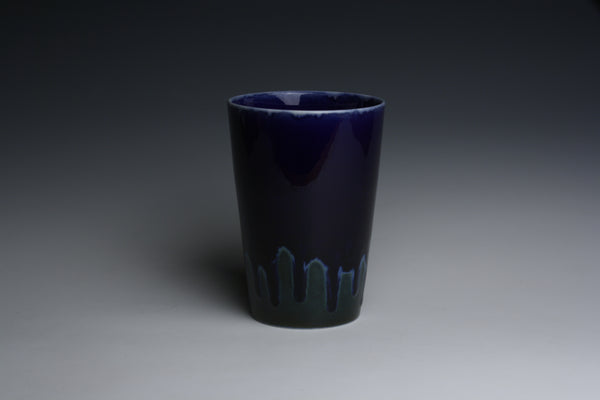 Cobalt Blue and Green Tumbler