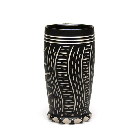 Carved Black Tumbler