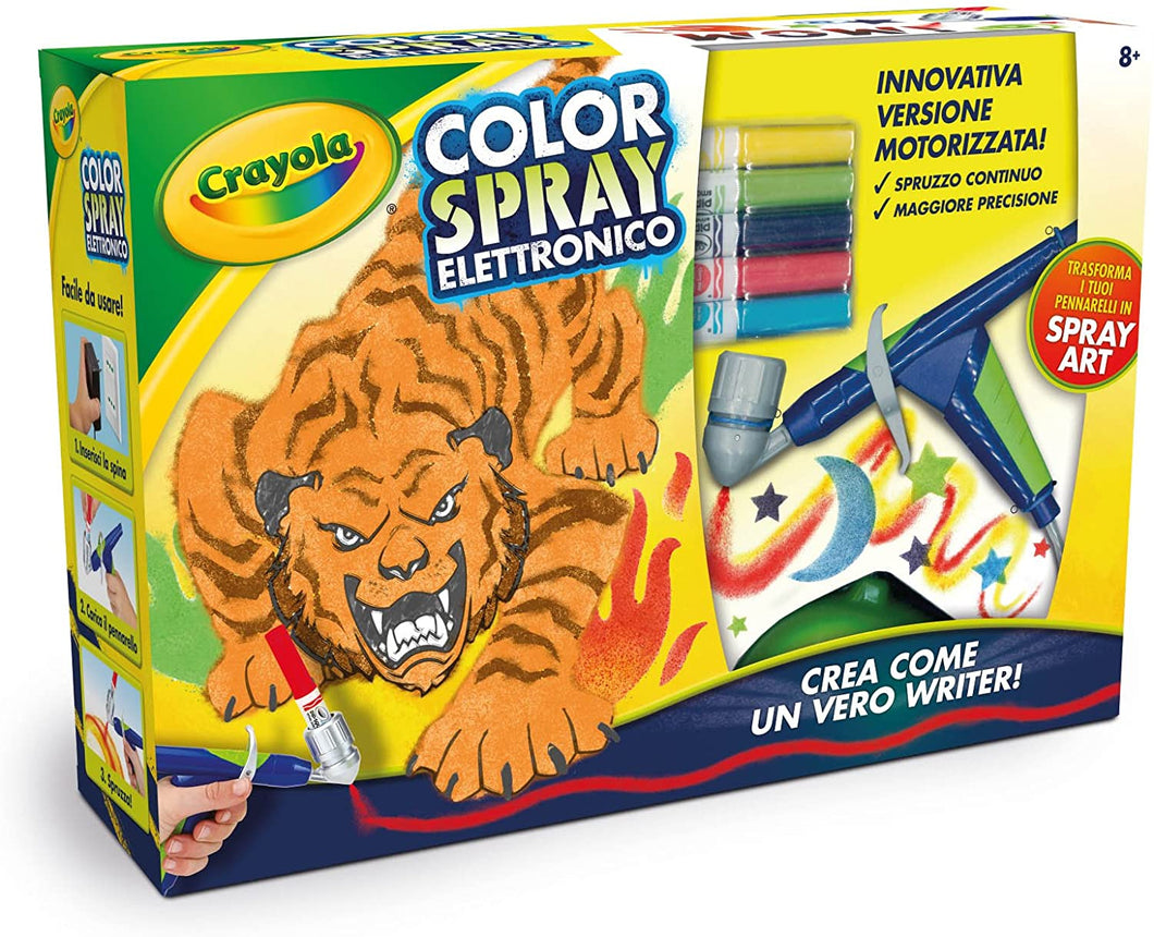 COLOR SPRAY ELETTRONICO CRAYOLA 8+ 6806IT