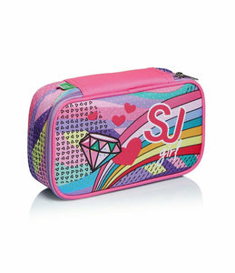 ASTUCCIO SEVEN 1 ZIP QUICK CASE FEMMINA PASTEL RAINBOW