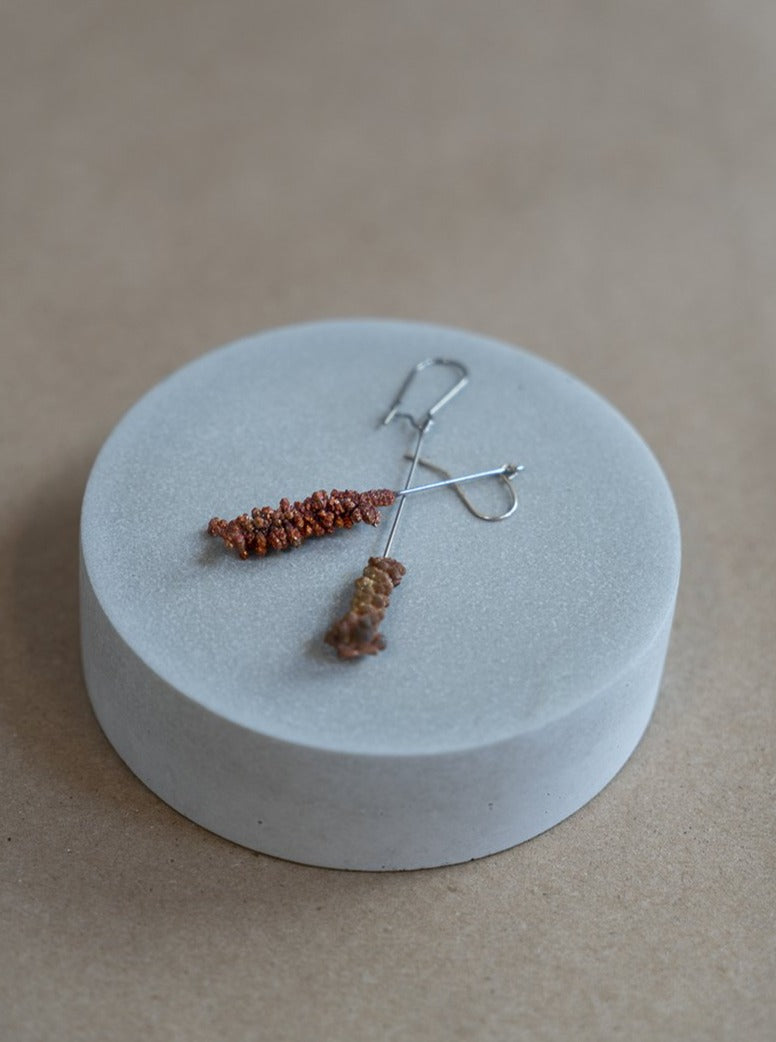 Copper Molecule Straight Earring