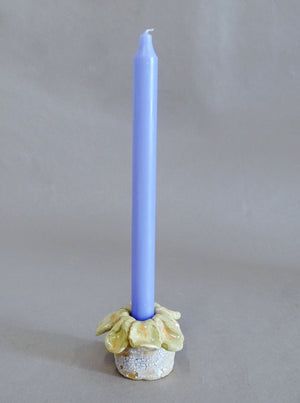 Flower Candle Holder Lavender