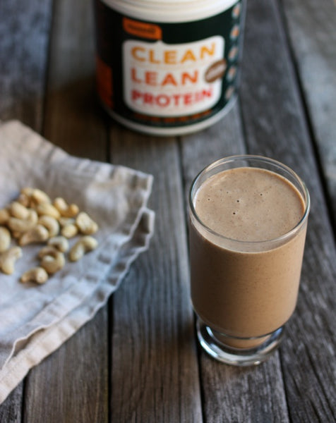 Capuccino Milkshake with Nuzest Protein Powder Real Coffee