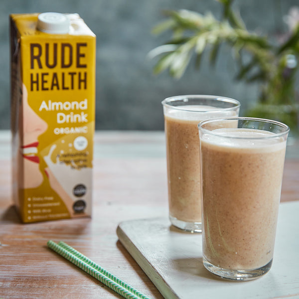 Almond Banana Smoothie with Rude Health Almond Drink Organic