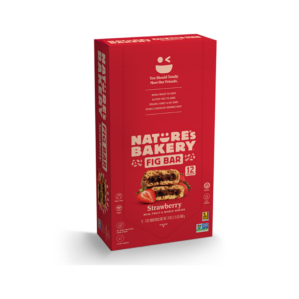 Nature's Bakery Fig Bar - Strawberry (Pack of 12)