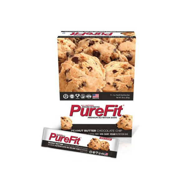 PureFit  Peanut Butter Chocolate Chip - High Protein Bar (15 Bars)
