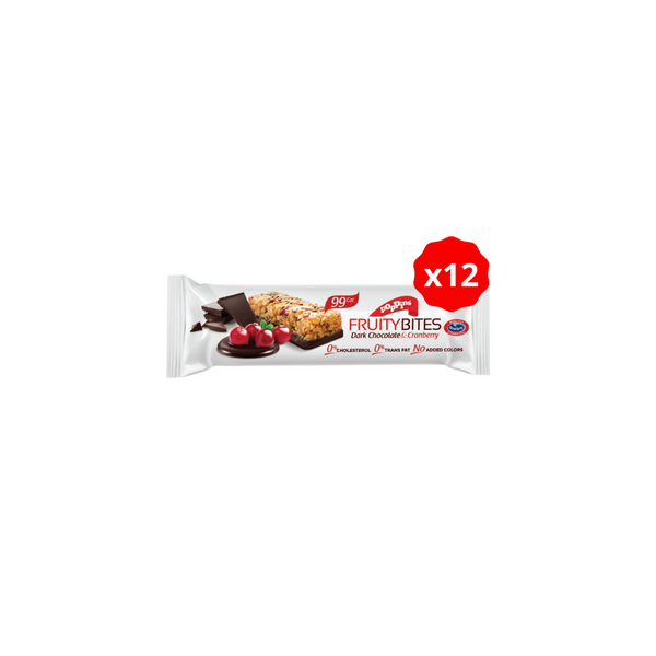Poppins - Dark Chocolate & Cranberry Fruity Bites / 12 pack / Cereal