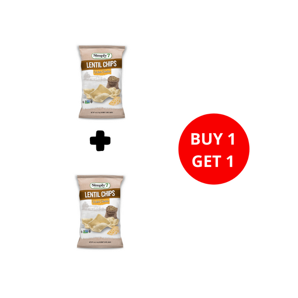 Buy 1 Get 1 Simply7 - Lentil Chips White Cheddar ( 113 gr )