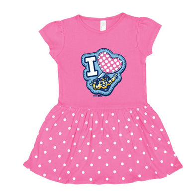 Infant Heartthrob Dress, Raspberry