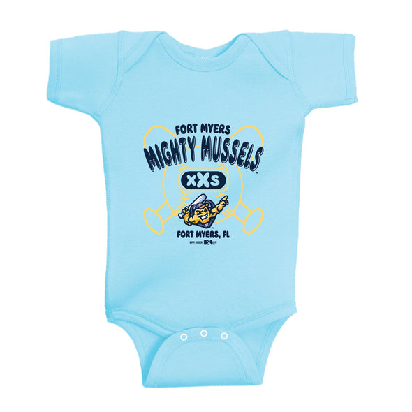 Infant Make Onesie, Aqua