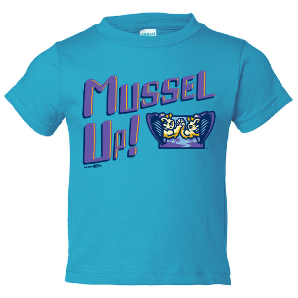 Toddler Mussel Up T-Shirt, Sapphire Blue