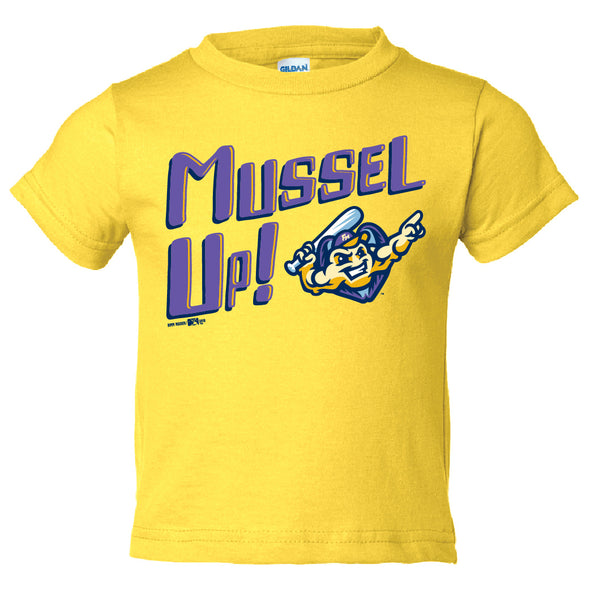 Toddler Mussel Up T-Shirt, Daisy Yellow