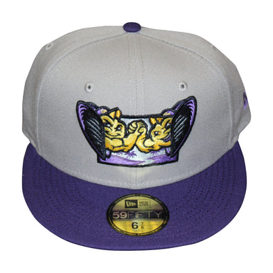 New Era On Field Alternate 59/Fifty Fitted Hat, Gray/Purple