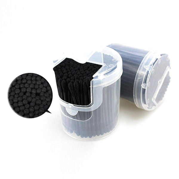 Cotton Applicator Tips - Black