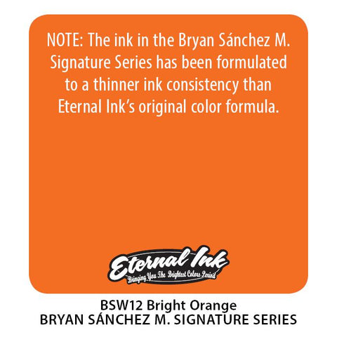 Eternal - Bright Orange Watercolour