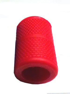 Knurled Silcone Grip Sleeve 1inch red