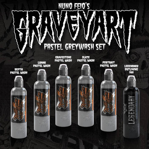 World Famous - Nuno Feio Graveyart Pastel Grey Wash Set 1oz