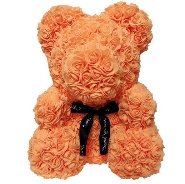 Ours™ en Rose Éternelle <br> Orange (70 cm)