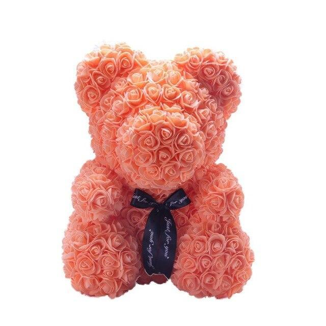 Ourson™ En Rose Éternelle Orange (25 cm)
