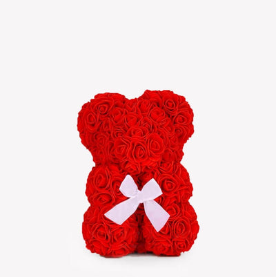 Ourson™ En Rose Éternelle Rouge (25 cm)