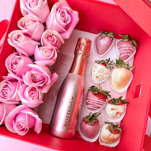 Champagne and Berries Box