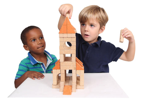 wooden toys construction unit blocks