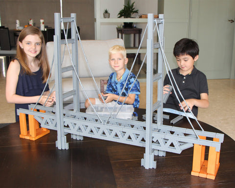 NEW 620 Piece Mini Unit Beams Bridge Builder Set