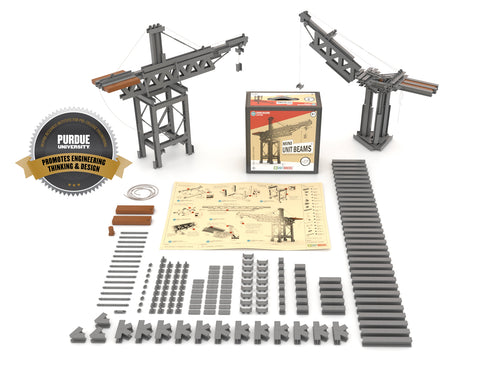 STEM 178 Piece Mini Unit Beams Cranes Builder Set