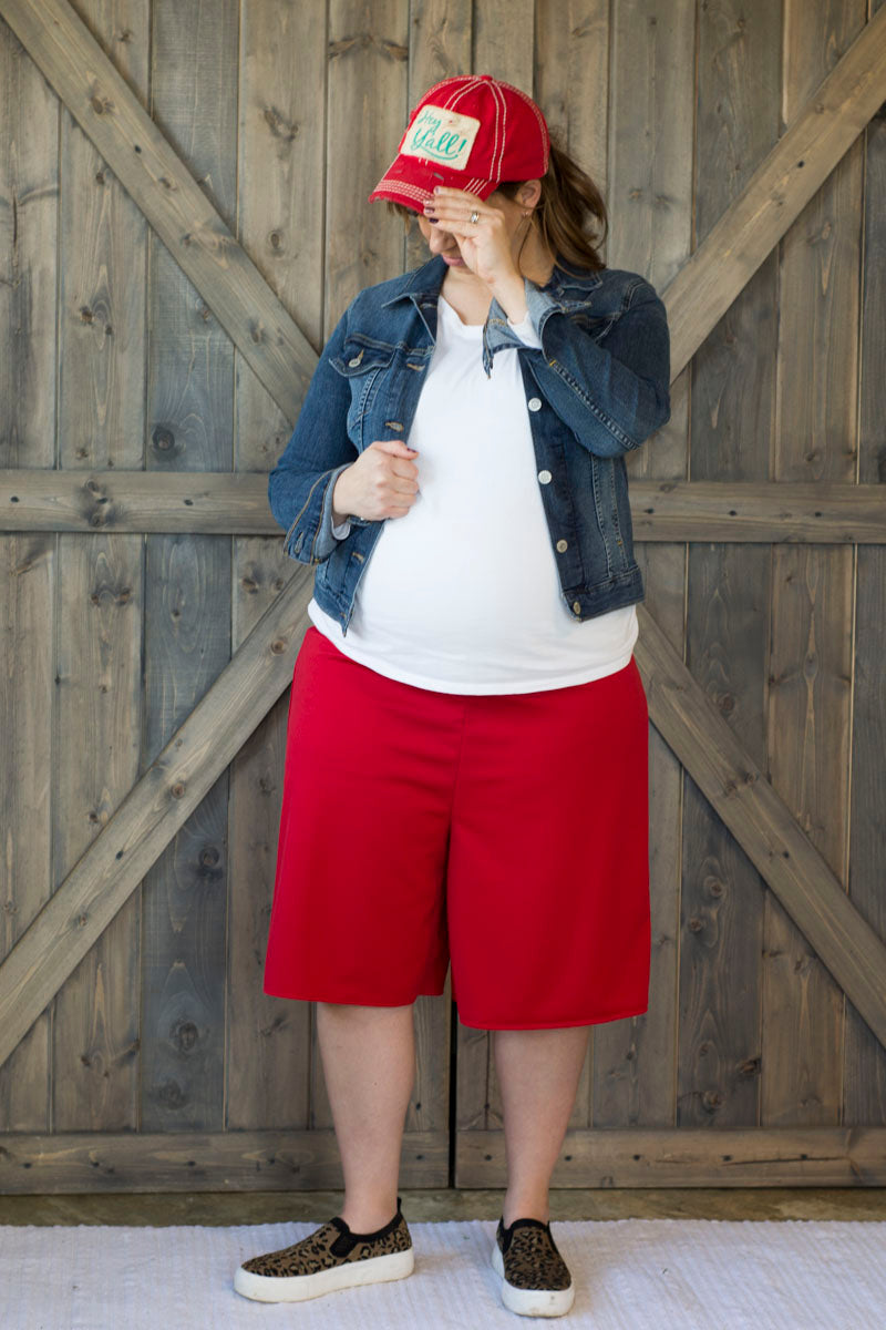 Maternity | Split Skirt (No Panel) (Core Solids)