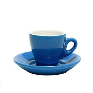 INCASA TULIP - Espresso Coffee Cup with Saucer (90ml)
