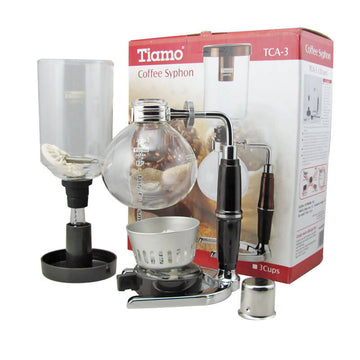 TCA-3 TIAMO SYPHON COFFEE MAKER 3 CUPS C/W ALCOHOL BERNER
