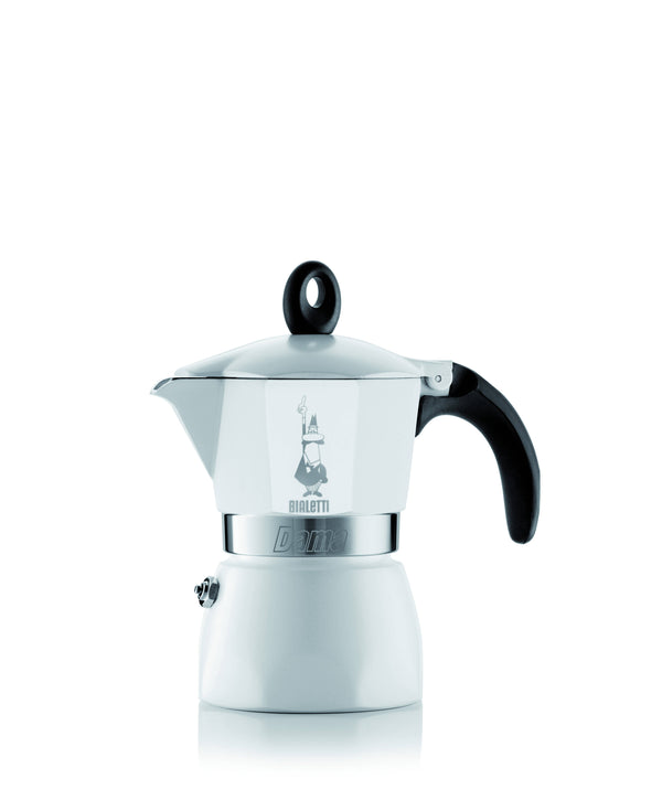 BIALETTI DAMA WHITE 3 CUPS IN BOX - COLLECTION (1424) - BUNAMARKET