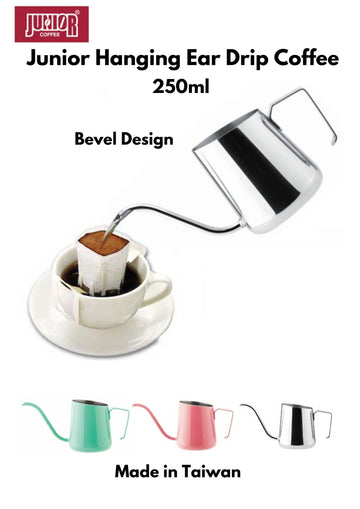 JUNIOR Hanging Ear Drip Coffee Bag Kettle Pot (Stainless Steel)