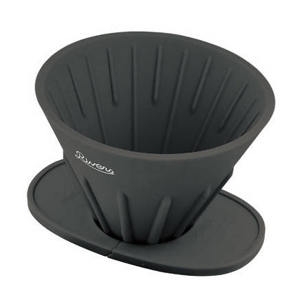RIVERS Cave-Reversible & Pond-Fold Coffee Dripper Set Black - BUNAMARKET