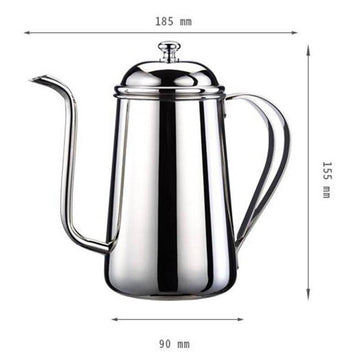 Tiamo Stainless Steel Narrow Mouth Pouring Kettle