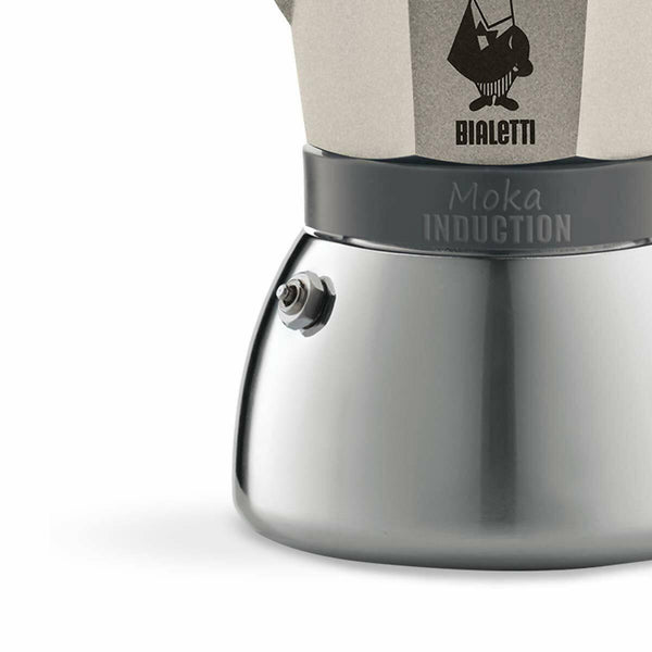 BIALETTI MOKA INDUCTION 3 CUPS LIGHT GOLD (3841) - BUNAMARKET