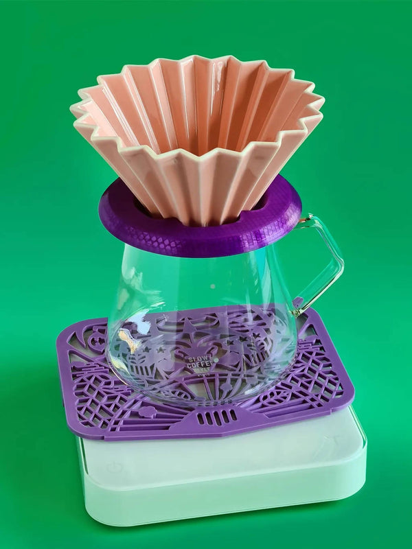 ROSA Dripper Holder for Origami Hario V60 StaggX TimeMore Crystal - BUNAMARKET
