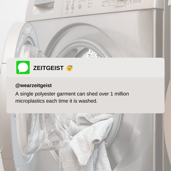 Polyester Microplastics Shed per Wash Water Pollution
