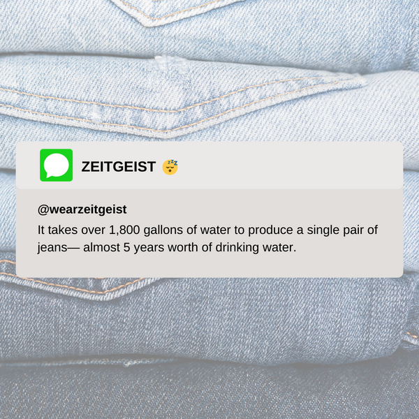 Water required per pair of jeans
