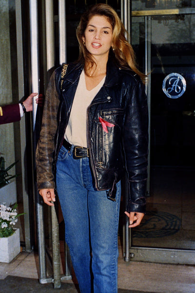 Cindy Crawford 1980s Celebrity Street Style