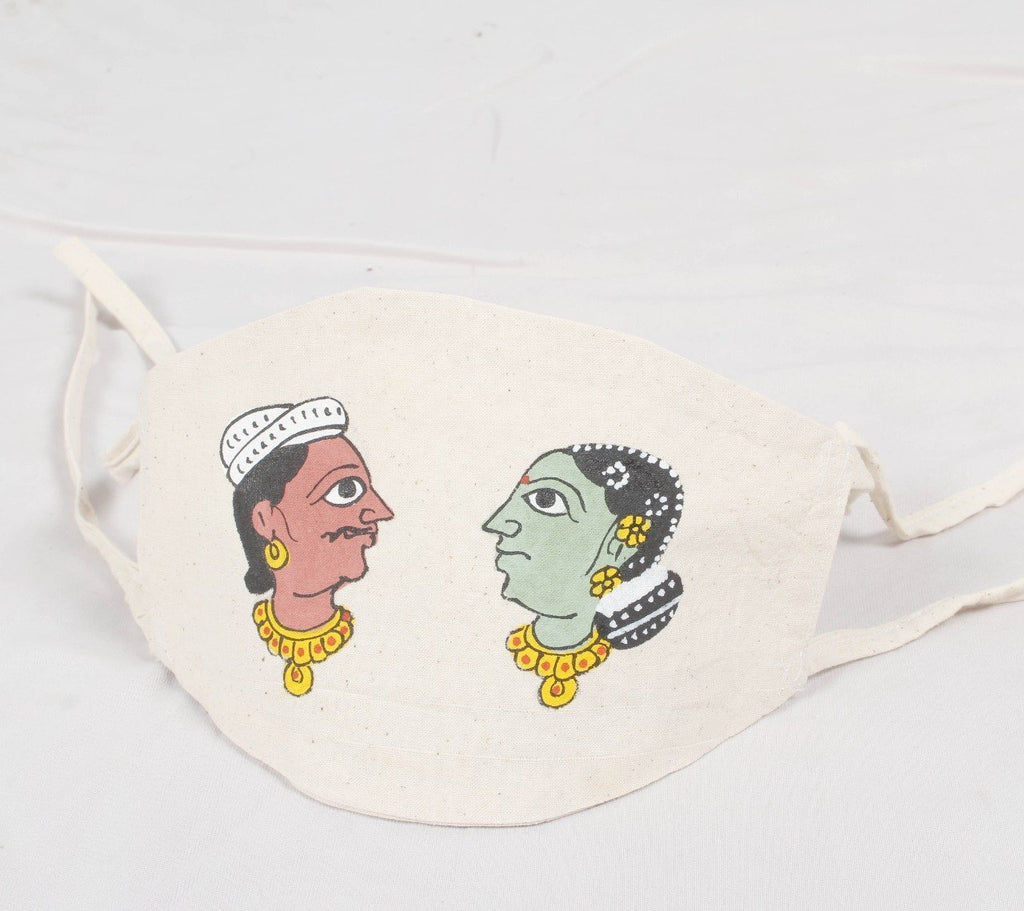 HAND PAINTED COTTON FACE MASK-WSFMHPFMCT23
