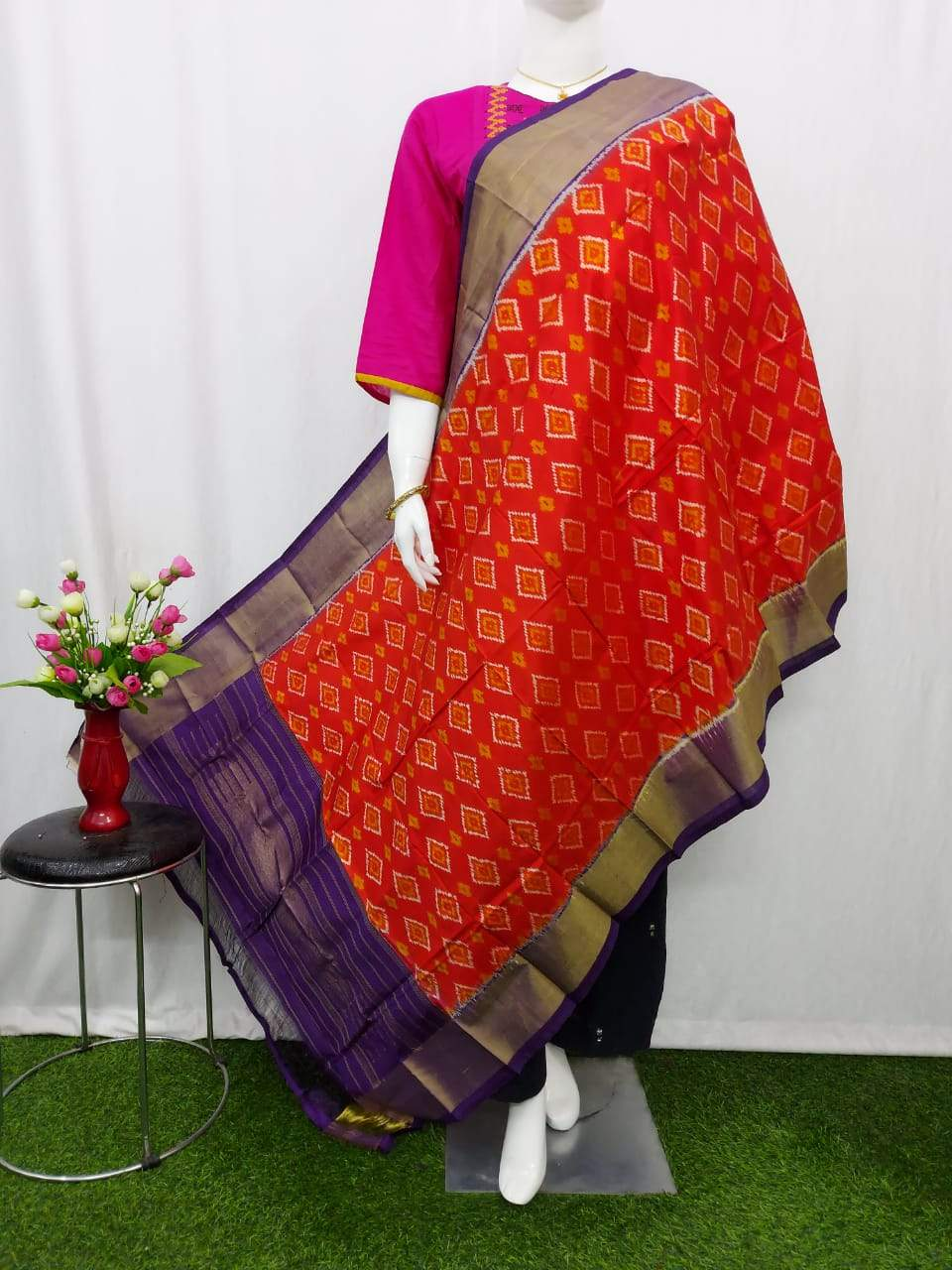 Weavers Collection Buy Ikkat Silk Dupattas Online