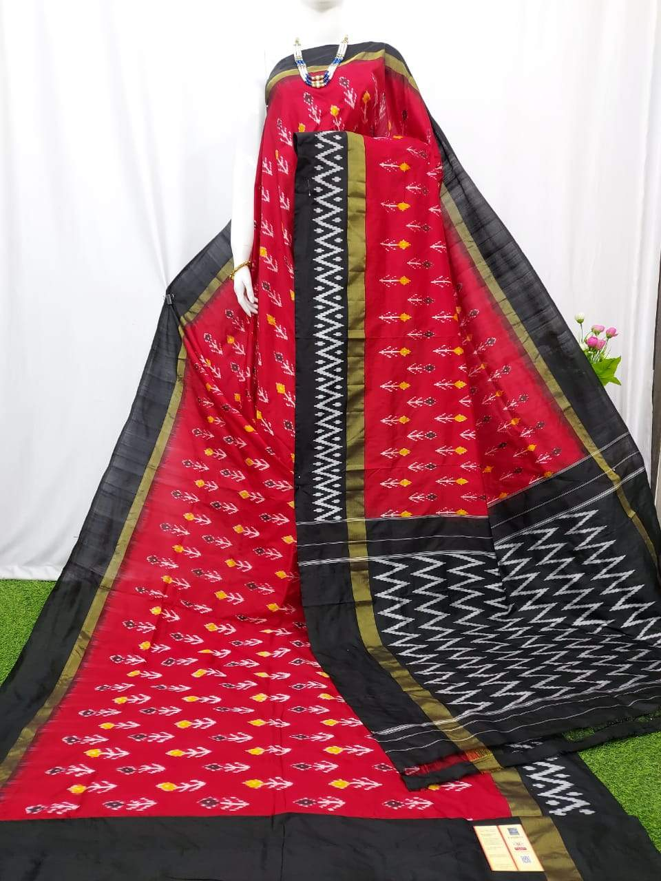 Buy Semi Ikkat Sarees