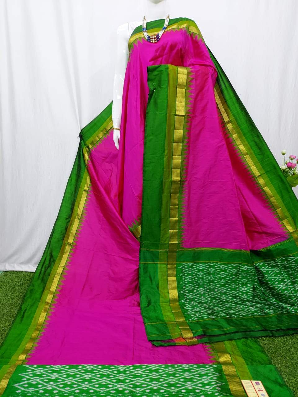 semi ikkat silk saree