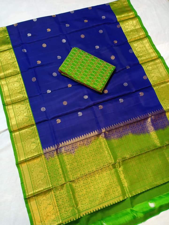 gadwal-dupatta-blue-color