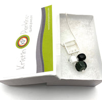 Petite Stem Necklace White, Black, Gray