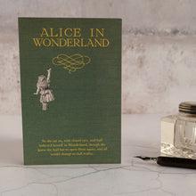 Load image into Gallery viewer, Alice's Adventures In Wonderland quotation card.