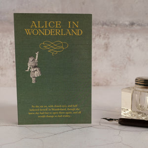 Alice's Adventures In Wonderland quotation card.