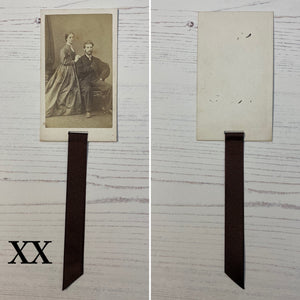 Bookmark made from a Victorian Carte de Visite